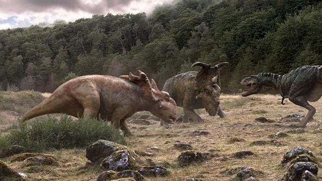 More 'traditional' dinosaurs keep their leathery and scaled looks. Picture: Walking With Dinosaurs 3D