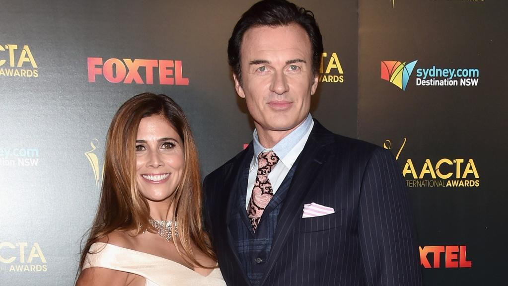 Julian McMahon and his wife Kelly Paniagua on the AACTA red carpet in LA. Picture: Alberto E. Rodriguez/Getty Images