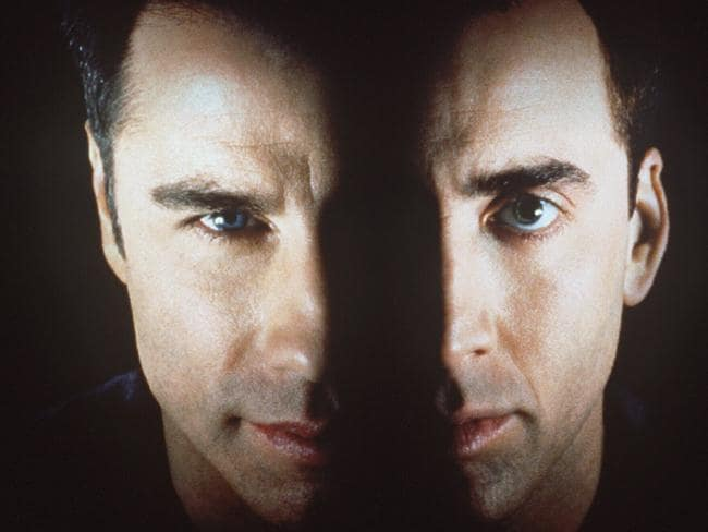 John Travolta and Nicolas Cage swap faces in Face/Off. Picture: Supplied