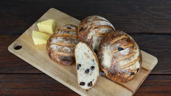 St Kilda's Woodfrog Bakery specialises in olive sourdough bread.