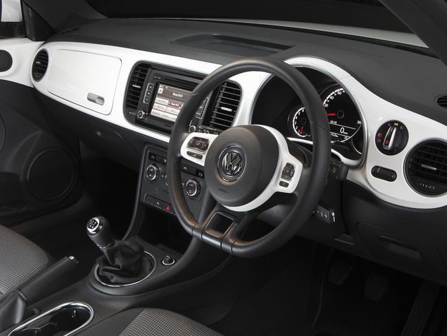 The interior of the Volkswagen Beetle (2013 to 2016 models. Picture: Supplied