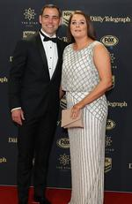 Cameron Smith and Barbara Smith arrive ahead of the 2017 Dally M Awards at The Star on September 27, 2017 in Sydney, Australia. Picture: Mark Metcalfe/Getty Images