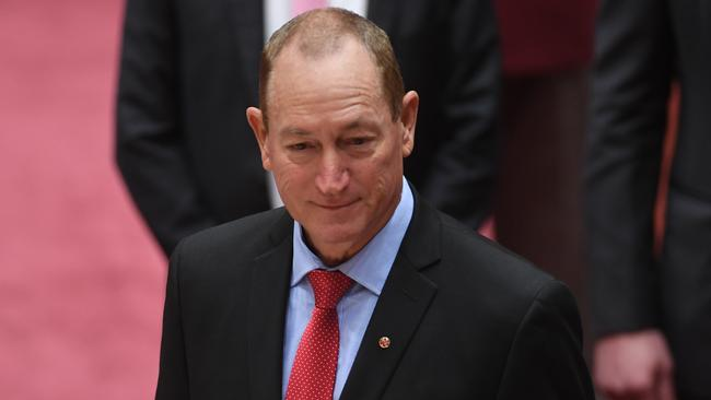 Senator Fraser Anning Picture: One Nation Senator Fraser Anning Quits Party After Swearing-in