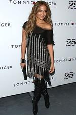 <p>A-list celebrity ... Jennifer Lopez attends the Tommy Hilfiger Spring 2011 collection during fashion week at Lincoln Center, in New York, on Sunday, Sept. 12, 2010. (AP Photo/Peter Kramer)</p>