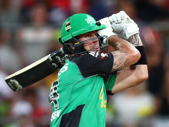 Kevin Pietersen during the BBL game between the Sydney Thunder and the Melbourne Stars at Spotless Stadium. Picture: Gregg Porteous