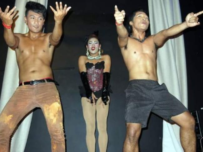 The ladyboy stage show at Munro's Station Bar in Siem Reap (above) has been described on Trip Advisor as 'superb'.