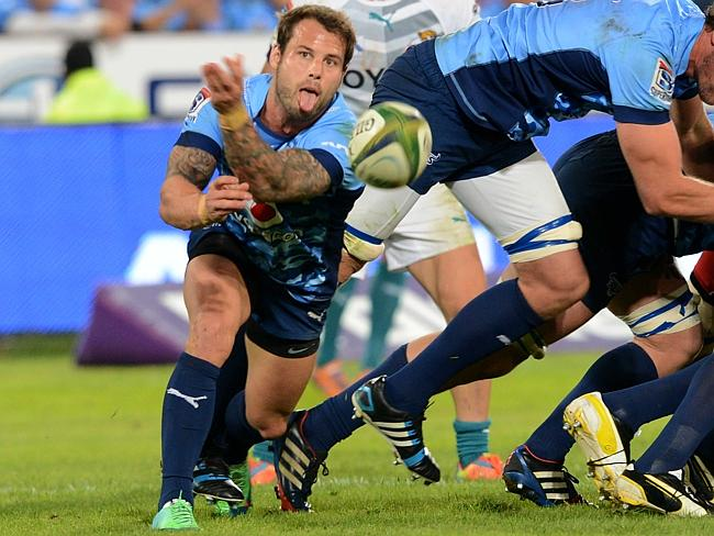 Francois Hougaard of the Bulls clears the ball from a scrum during the Super Rugby match between the Bulls and the Cheetahs at Loftus Versfeld.