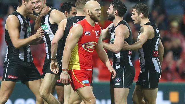 Gary Ablett was outstanding for the Gold Coast but didn't have enough help. Picture: Getty Images
