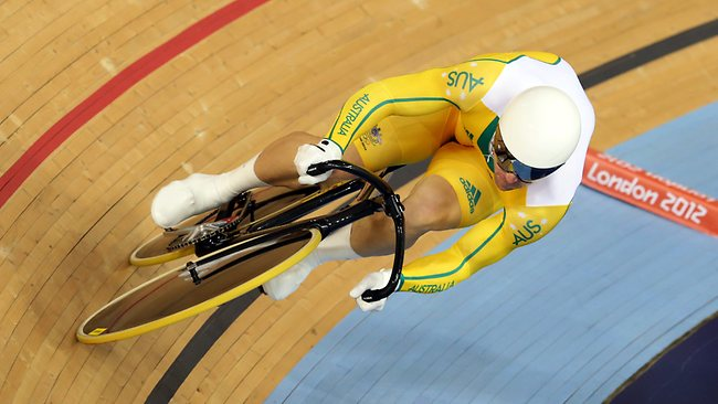 Australia's Shane Perkins qualifies for the next round in the Men's Sprint. Picture: Adam Head