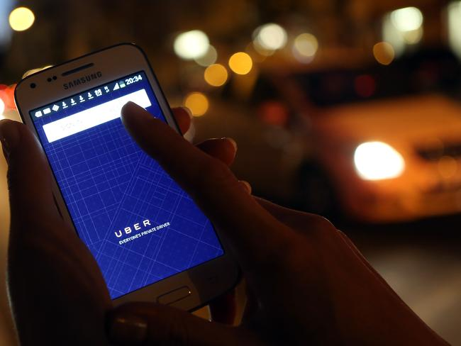 Uber has quickly grown in popularity in Australian cities. Picture: Adam Berry/Getty Images
