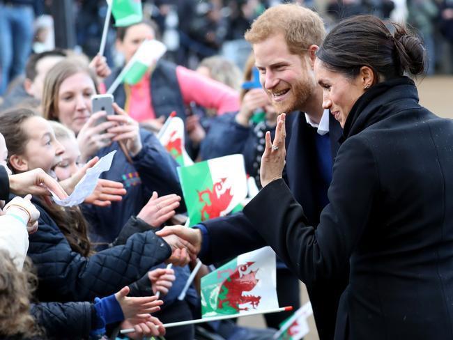 Some in the crowd lined up for nine hours in cold temperatures to see the two up close. Picture: Chris Jackson/Chris Jackson/Getty Images