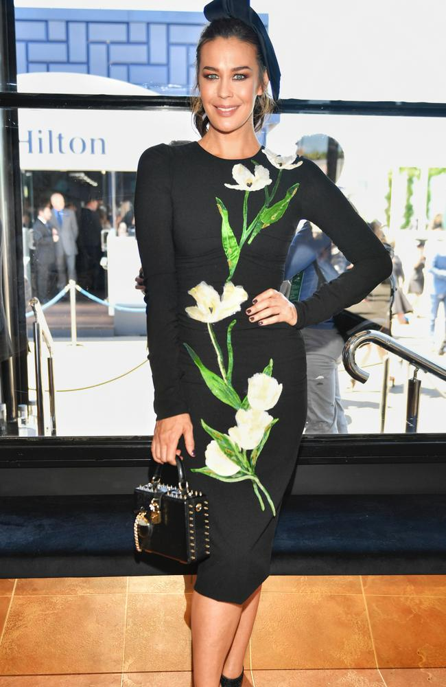 2016 Derby Day races at Flemington. Megan Gale. Picture: Jason Edwards