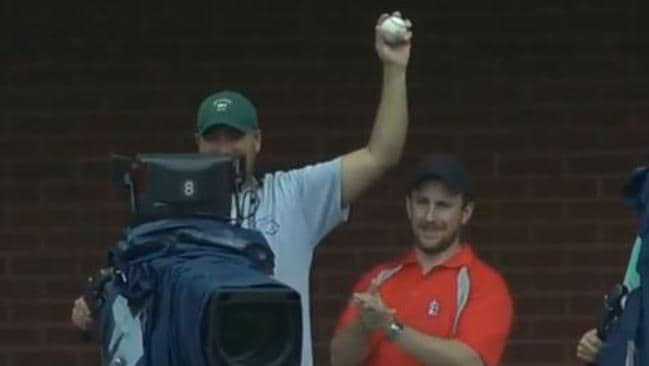 A cameraman stole the show at an MLB game.