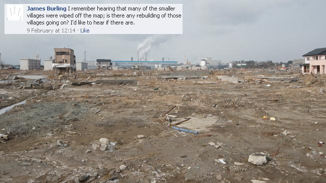This suburb in Ishinomaki was almost completely wiped out by the tsunami. Picture: Helen Davidson