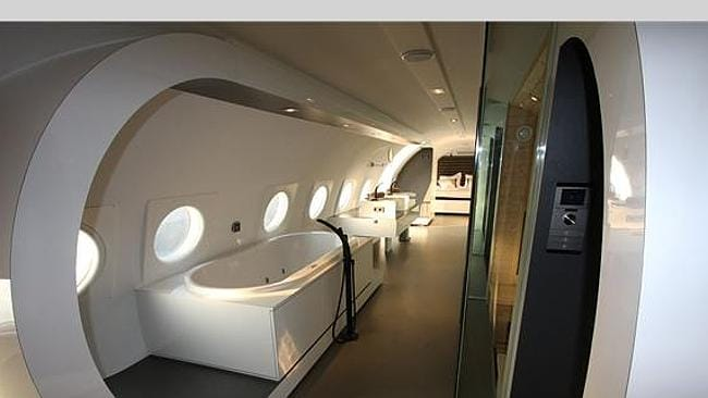 "FOR those who just can't enough of the ""in-flight"" experience when on holiday. Picture supplied: w2ww.unusualhotelsoftheworld.com."