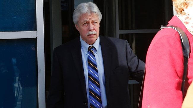 Mark Strong Sr. leaves the Cumberland County Court House in Portland, Maine. Picture: AP