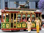 Ye Olde Pageant Tram. Photo Naomi Jellicoe