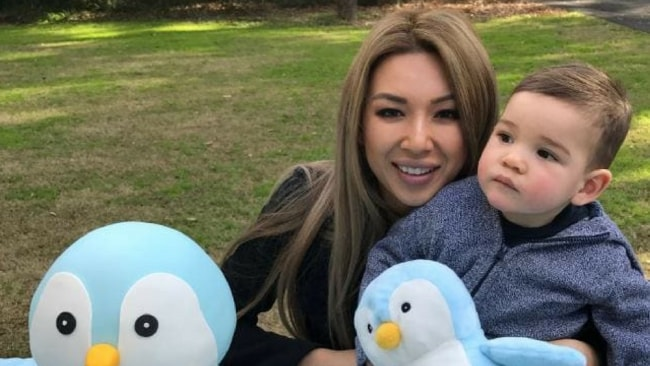 The pressure of running a business and being a mother was a tough juggle for Catherine. Photo: Supplied