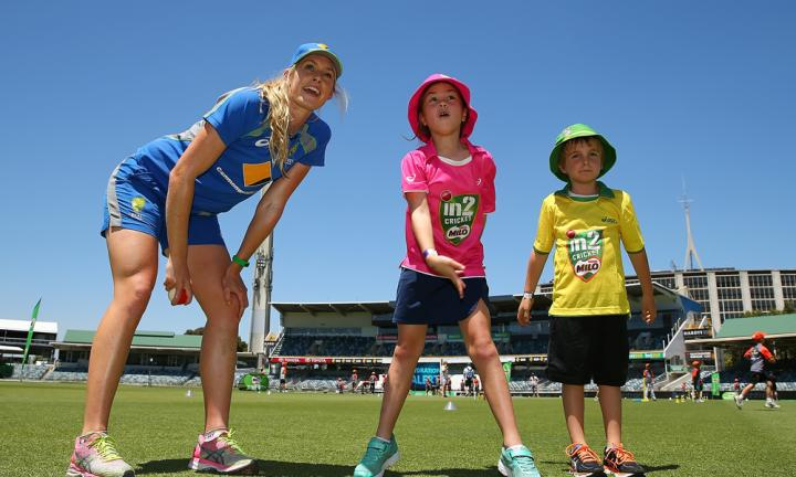 When 100 lucky kids played the WACA