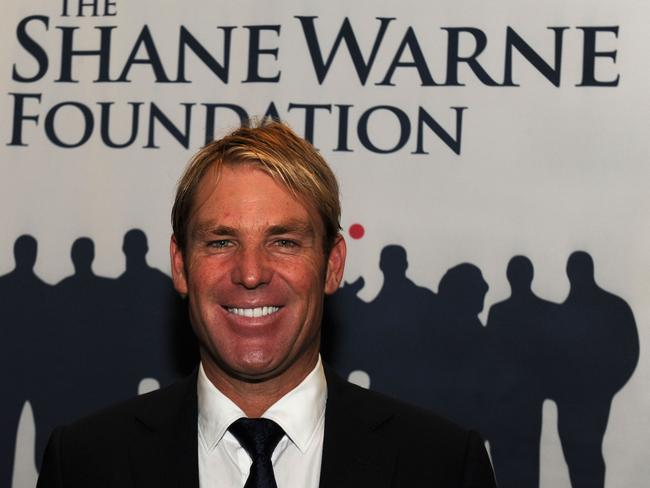 Shane Warne at The Shane Warne Foundation Ashes lunch in 2013.