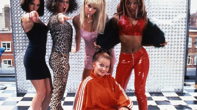 The Spice Girls in a scene from the 1997 film  <i>Spice World. </i>Picture: Supplied.
