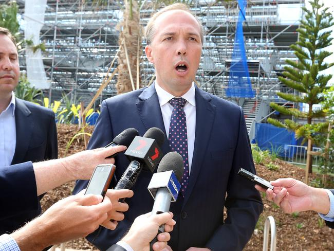 "Too dangerous ... Health Minister Peter Dutton said it is unlikely Ebola sufferers ""would survive"" what would be at least a 30 hour flight home from West Africa. Photo by Richard Gosling"