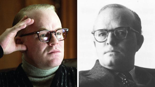 Seymour Hoffman in Capote and Truman Capote.
