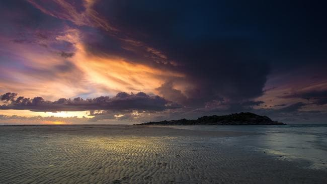 Calm before the storm - sunset at Nhulunbuy the night before Cyclone Nathan hit. Picture: Matt Burman Photography