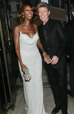 David Bowie and Iman on June 6, 2005 at the 2005 CFDA Awards at the New York Public Library in New York City. Picture: Evan Agostini AFP / GETTY IMAGES NORTH AMERICA