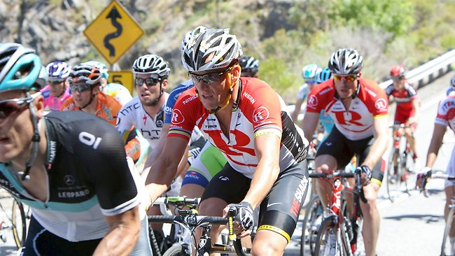 Lance Armstrong competes on stage four of the 2011 Tour Down Under, from Norwood to Strathalbyn.
