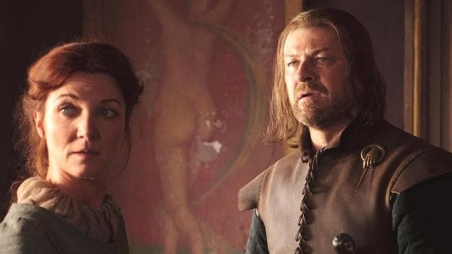 Game of Thrones couple Ned and Catelyn Stark.