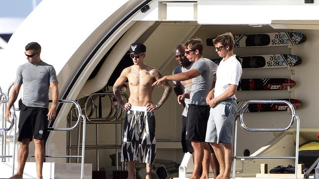 Justin Bieber and Michelle Rodriguez enjoy jet skiing and swimming just hours after Orlando Bloom got into an altercation with Justin at a restaurant in Ibiza. Picture: Splash
