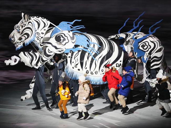 The White Tiger & Five Kids enter the stage. Picture: Jamie Squire/Getty Images
