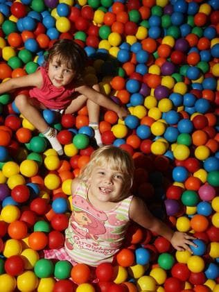 Ball-pit fun at Smileez Playhouse and Cafe in Parkwood. Picture: Scott Fletcher