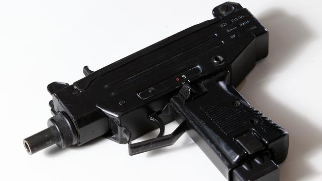 Powerful weapon ... the nine-year-old girl was firing an Uzi when tragedy struck.