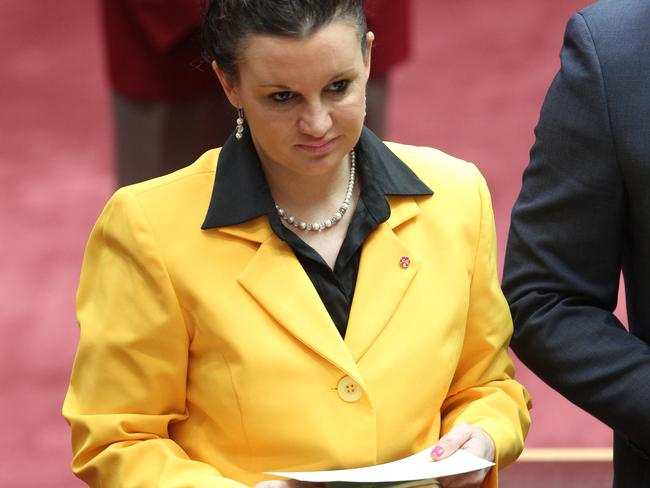 "Attack dog ... Senator Jacqui Lambie has declared: ""If you want to come into the kennel with the PUPs be prepared to be chewed up and spat back out,"". Pic by Gary Ramage"