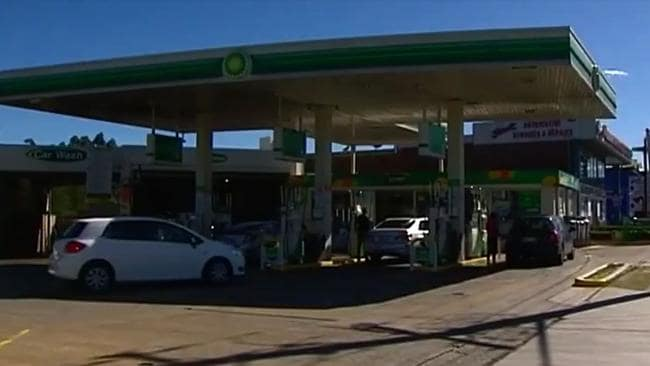 The Sunnyholt Road servo where the altercation took place. Picture: Seven News