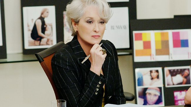 Meryl Streep plays the ultimate office bitch in The Devil Wears Prada. Picture: Supplied
