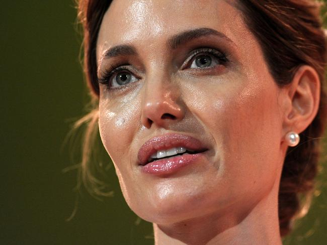 Fighting sexual violence ... UN special envoy Angelina Jolie dedicated the conference to a woman she met in Bosnia, who was too ashamed to tell her son she had been raped. Picture: Getty