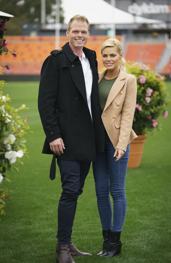 Sophie Monk on her first date with Jarrod Woodgate. Picture: TEN