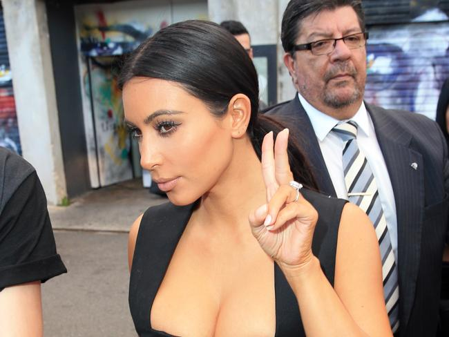 Kim Kardashian heads to Bondi Icebergs for dinner during her Australian trip.
