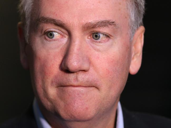 Collingwood president Eddie McGuire fronts the media after the Collingwood board meeting.   . Pic: Michael Klein