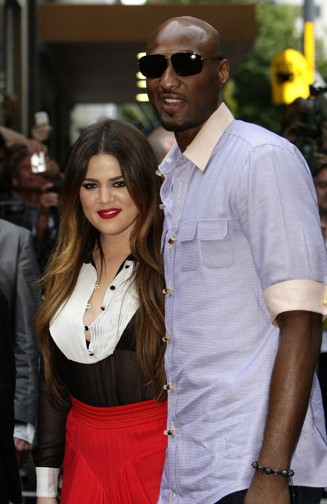 Khloe and Lamar were married for four years.
