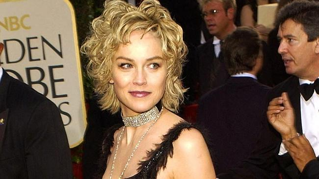 Sharon Stone at the 60th Annual Golden Globe Awards in 2003.