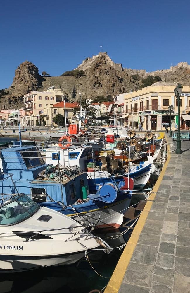 The beauty of a Greek island combines with the Anzac history. Picture: John Burfitt