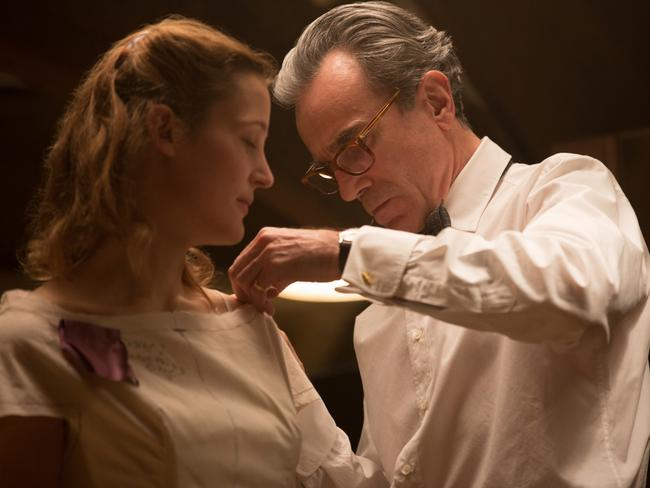 Waitress Alma (Krieps) becomes muse to dressmaker Reynolds Woodcock (Daniel Day-Lewis) in Paul Thomas Anderson's Phantom Thread. Picture: Universal Pictures