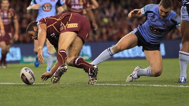 State of origin 2012 Game 1 disputed Greg Inglis try