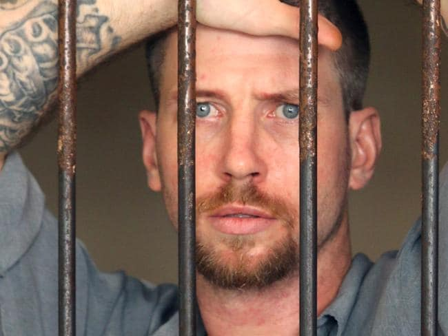 Australian Shaun Edward Davidson had just two months on his sentence left when he escaped from prison in Bali. Picture: Lukman S. Bintoro