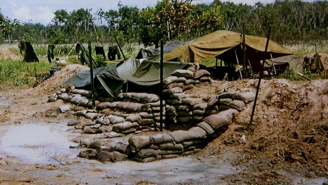 "Gun pits ... at Fire Support Base ""Coral"" in Vietnam in 1968. Picture: Supplied"