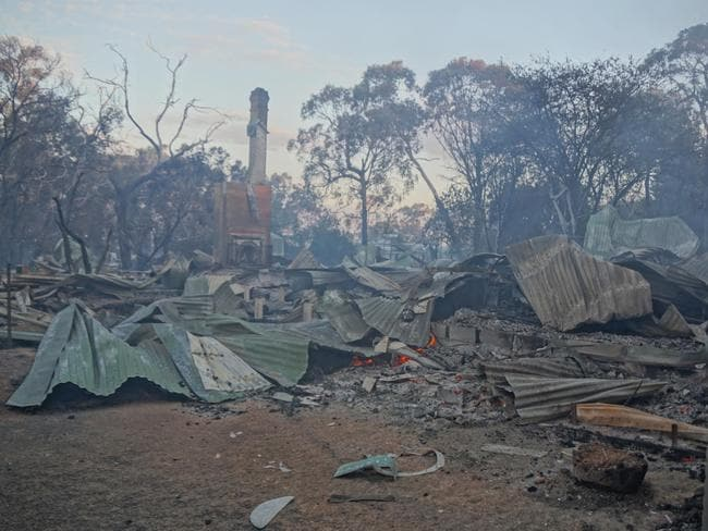 Devastation after the Crib Point fire. Picture: CFA.
